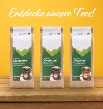 Drei Bio Brennnessel Tees